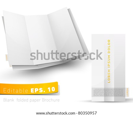 Blank folded brochure for your design presentation - stock vector