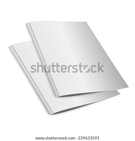 Blank folder  A4 size - stock vector