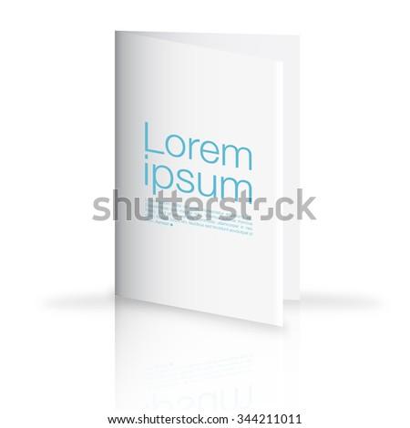 blank folder brochure design isolated on white - stock vector