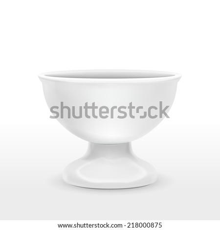 blank food container isolated over white background