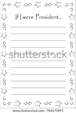 floral weekly daily planner template lettering stock vector  blank for an essay if i were president beautiful stars frame