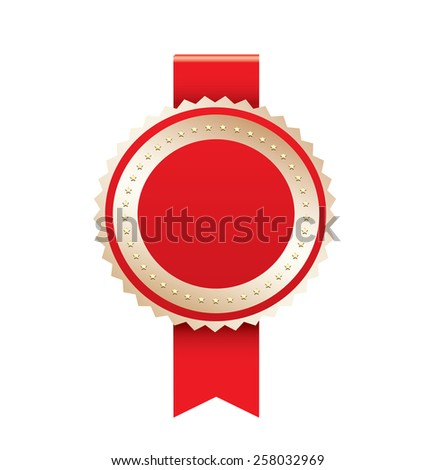 Blank gold label - stock vector