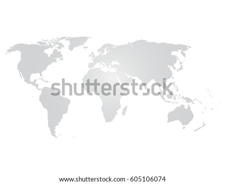 Blank grey world map icon on stock vector royalty free 605106074 blank grey world map icon on isolate on white gumiabroncs Images