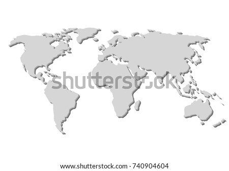 Blank grey world map isolated on stock vector 740904604 shutterstock blank grey world map isolated on white background best popular world map vector globe template gumiabroncs Gallery