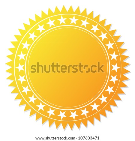 Blank guarantee certificate on white - stock vector