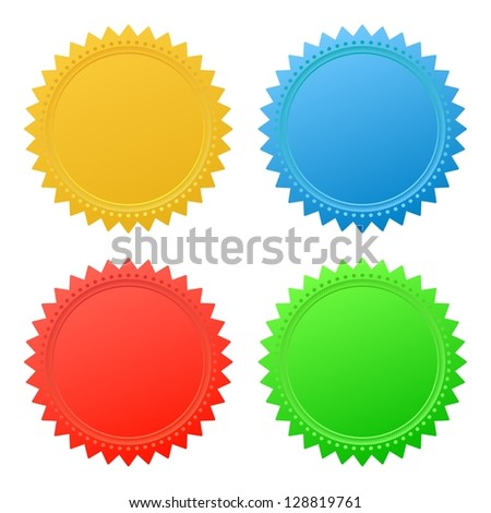 Blank guarantee vector element sign certificate - stock vector