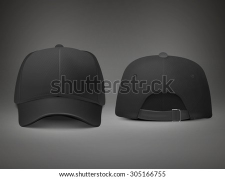 blank hat in black isolated on black background