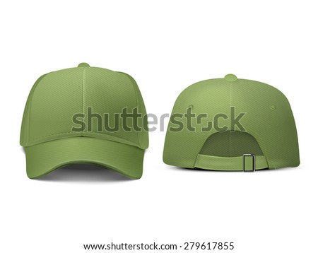 blank hat in green isolated on white background