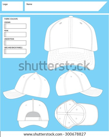 Blank Hat Template Stock Vektorgrafik 300678827 Shutterstock
