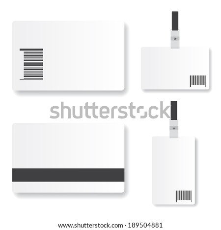 Blank  id card illustration - stock vector