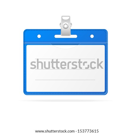 Blank ID (identification card ) Badge isolated on white - stock vector