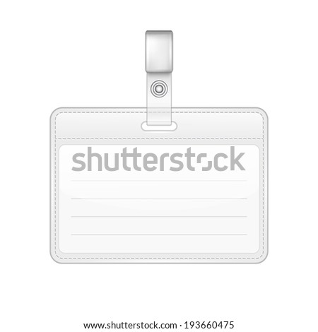 Realistic D Render Id Badge Stock Illustration