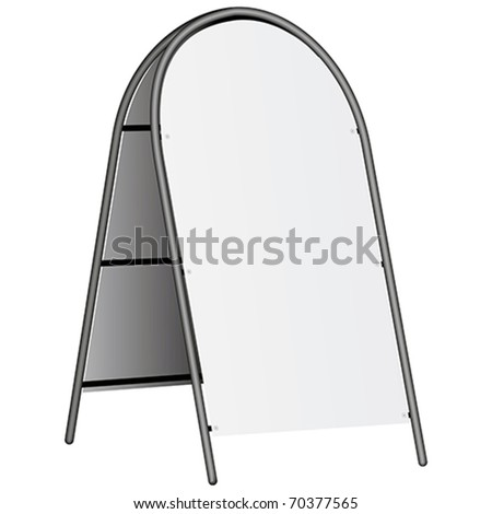 blank information board isolated on white - stock vector