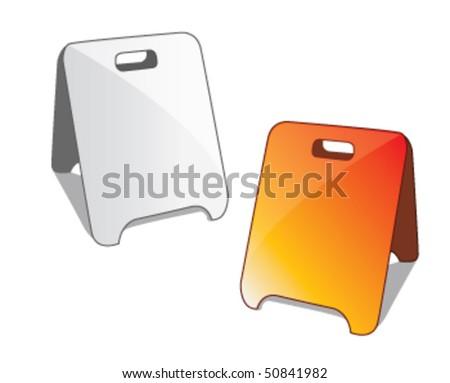 blank information board vector - stock vector