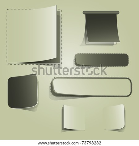 Blank Labels - stock vector
