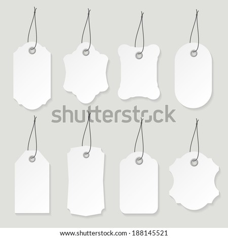 Blank labels set. - stock vector