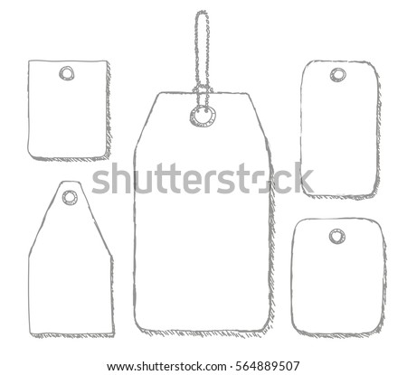 blank labels template price tags set stock vector 564889507