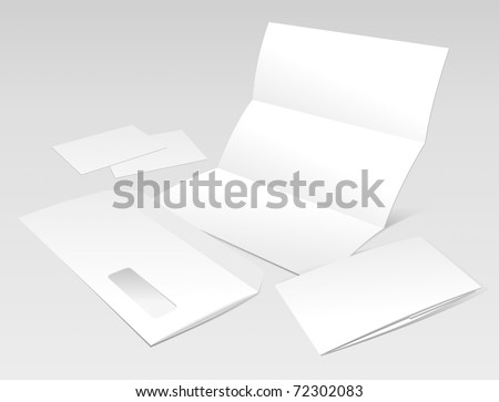 Blank Letter, Envelope, Business Cards and Booklet. Design Template for Corporate ID Presentation. Vector Illustration (EPS v.8.0) - stock vector