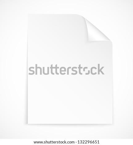 Blank letter paper icon on white background. Vector illustration - stock vector