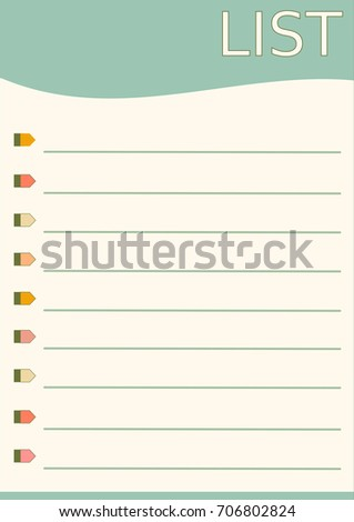 blank list template