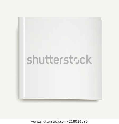 blank magazine or book templates on white background - stock vector