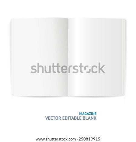 Blank magazine template isolated on white background - stock vector