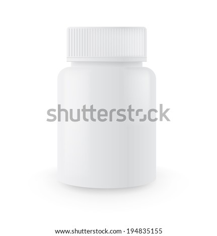 Blank medicine bottle isolated on white background - stock vector