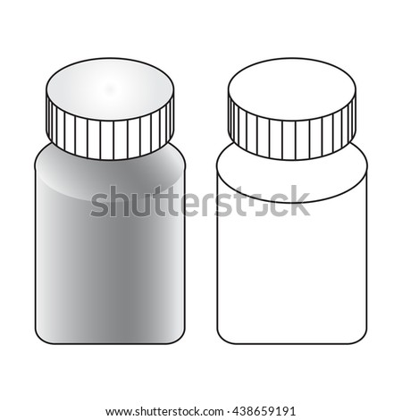 Blank medicine bottle isolated on white background