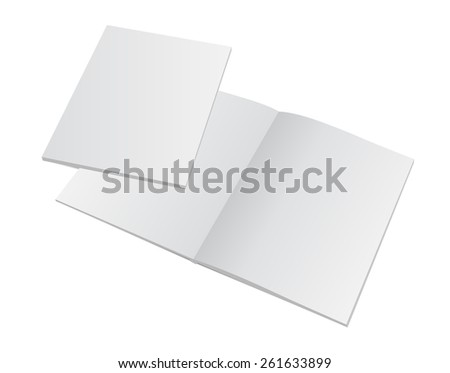 Blank mockup opened magazine with cover. Ready for your portfolio design. Vector illustration presentation.  - stock vector
