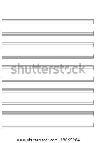 blank music score