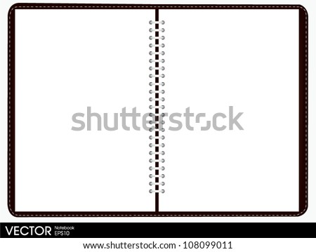 blank note book - stock vector