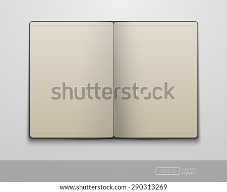 Blank notebook template - Vector illustration.