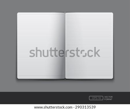 Blank notebook template - Vector illustration. - stock vector