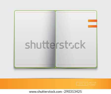 Vector Book Blank Page Stickers Stock Vector 103857956 - Shutterstock