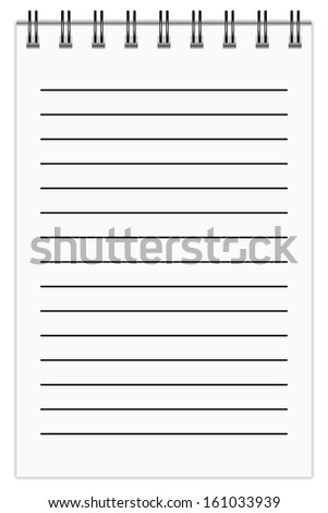 Blank Notepad, in line. EPS10 vector.