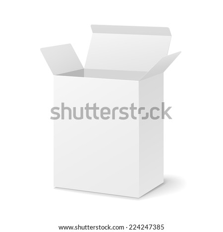 blank open box isolated on white background - stock vector