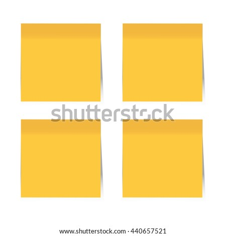Blank Orange Sticky Notes. Vector, EPS10 - stock vector