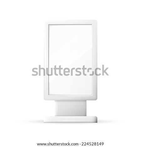 Blank Outdoor Billboard with Place for Message - stock vector
