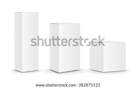 Blank package Box set. Vector - stock vector