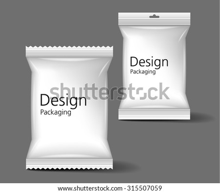 Blank Packaging mock up - stock vector