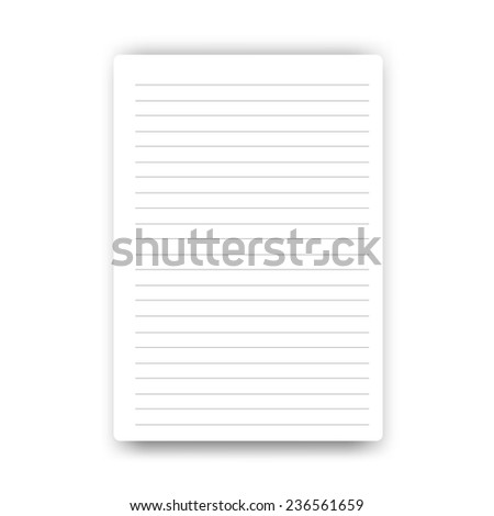 Blank Page notebook vector  - stock vector