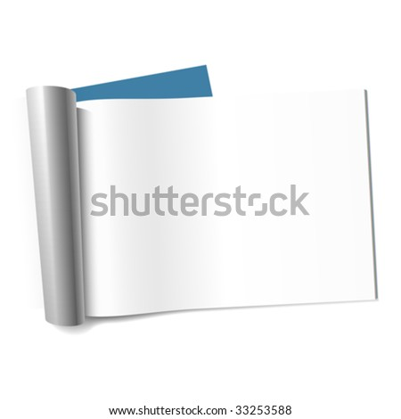 Blank page of magazine. Vector (landscape). - stock vector