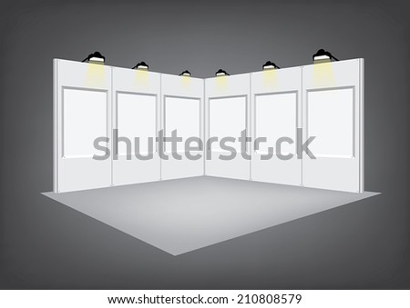 Blank panel exhibition stand vector - stock vector