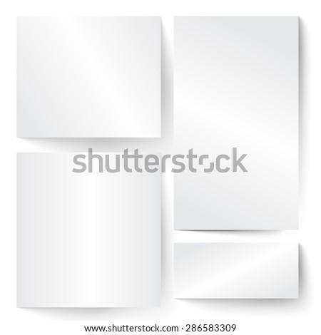 Blank paper banner illustration - stock vector