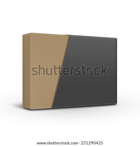 blank paper box template isolated on white background  - stock vector