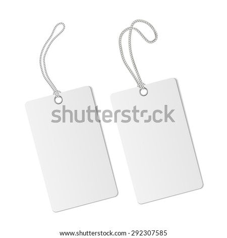 Blank paper price tag or label isolated