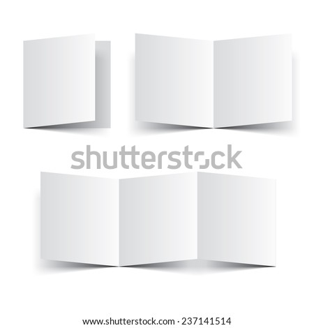 cardboard brochure holder template - shutterstock