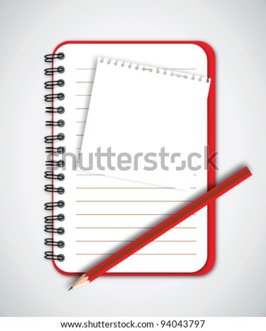 Blank Paper with Notebook Vector - stock vector