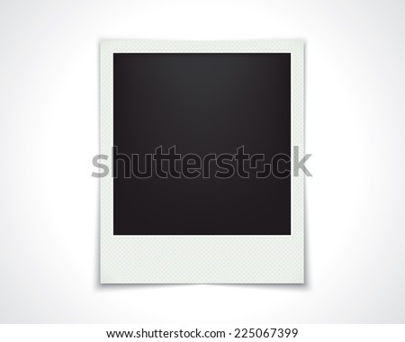 blank photo frame isolated on white. template design. vector eps10 - stock vector
