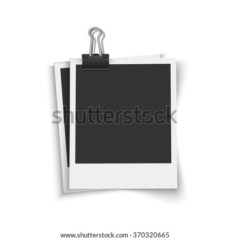 Blank photo frames with clip